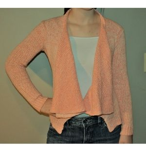 Anthropology Moth Orange Sweater Cardigan Sz XS